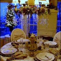 A New Year's Winter Table Setting