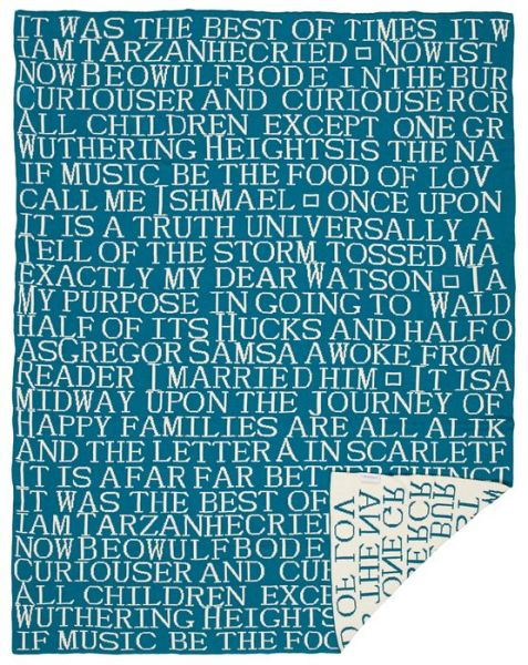 Quotes Throw in Turquoise