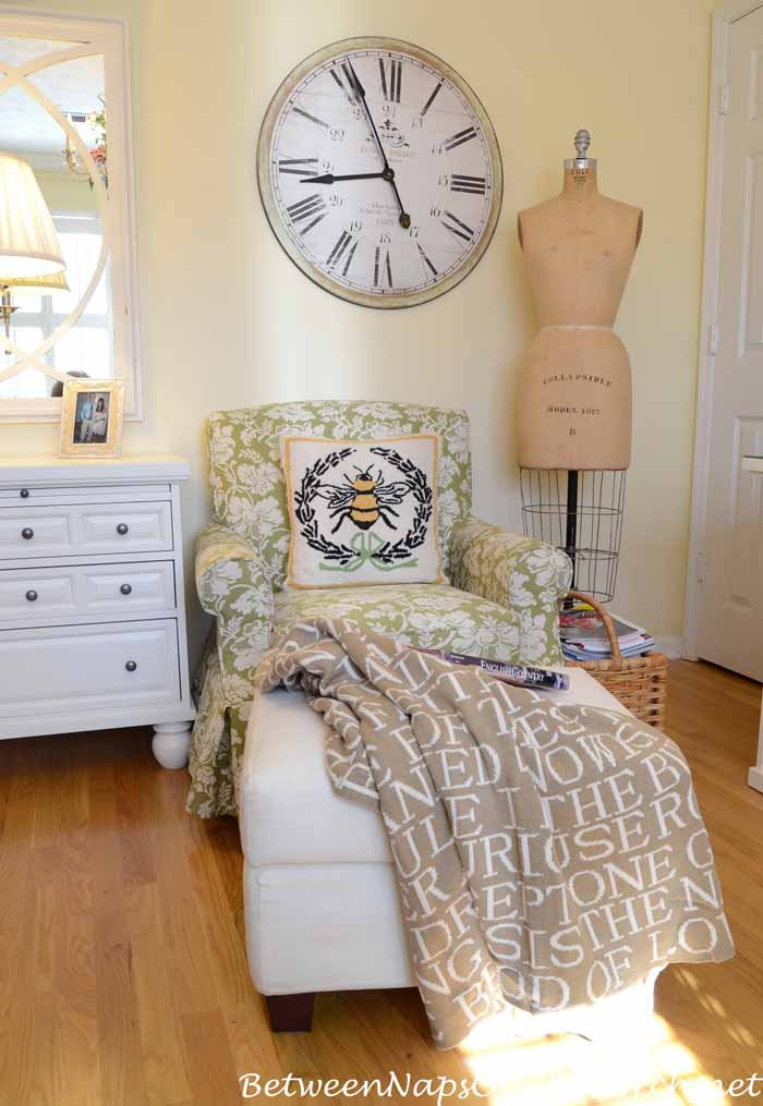 Reading Nook with Literature Quote Throw_wm