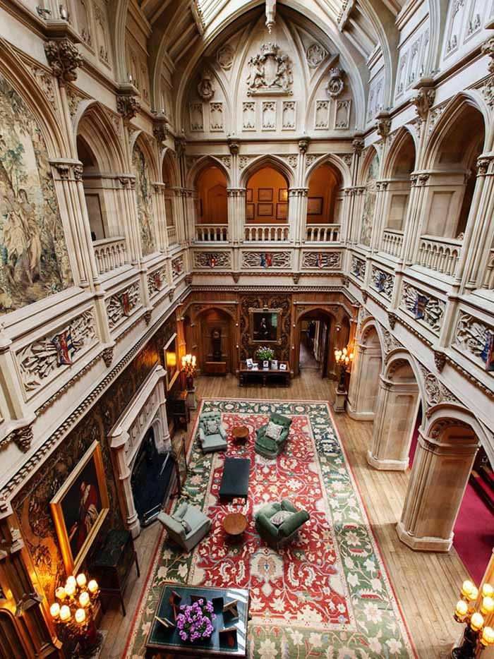 Saloon and Gallery in Downton Abbey Highclere Castle.jpeg