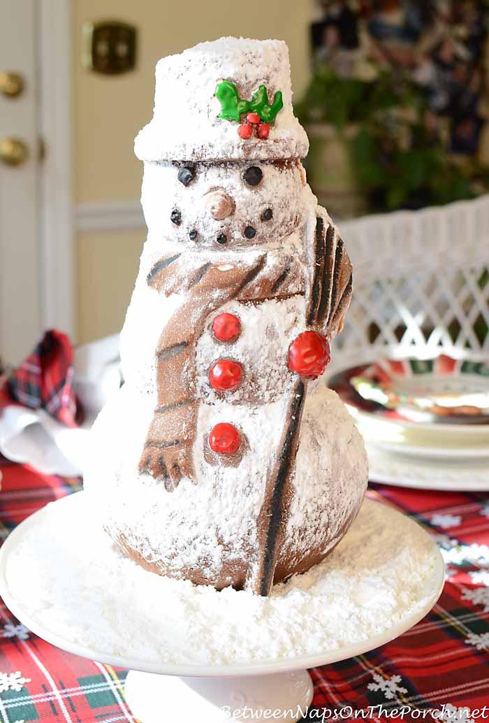 Make A Nordic Ware Snowman Spice Cake