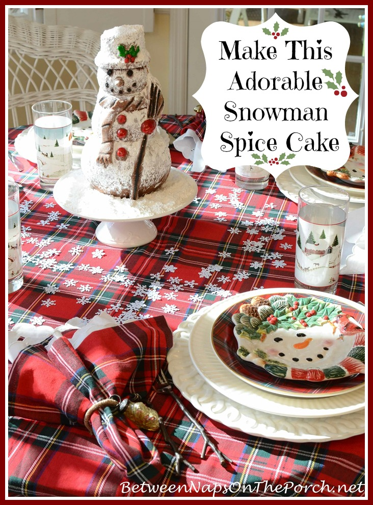 Snowman Spice Cake Image