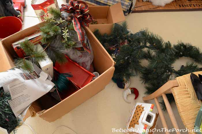 Sorting and Organizing Holiday Decorations