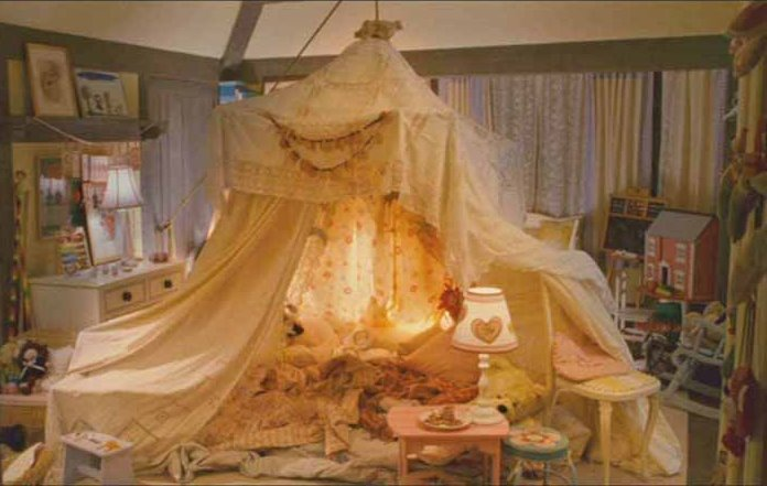 Tent in Sophie and Olivia's Bedroom in Movie The Holiday