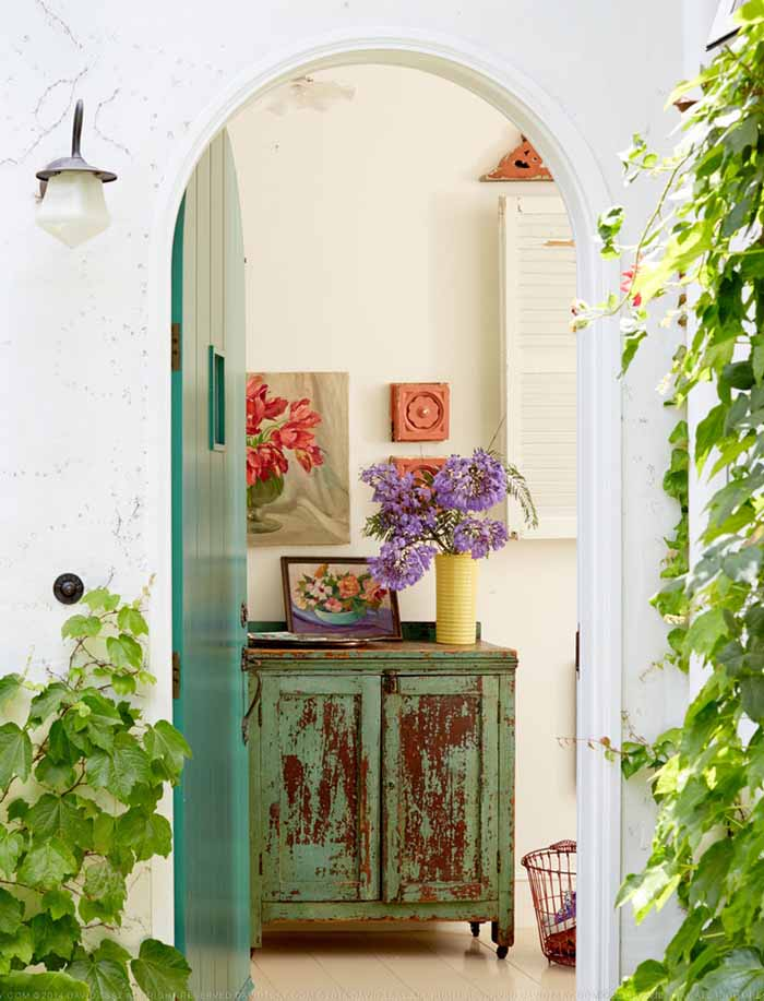 Arched Front Door For Cottage Entry