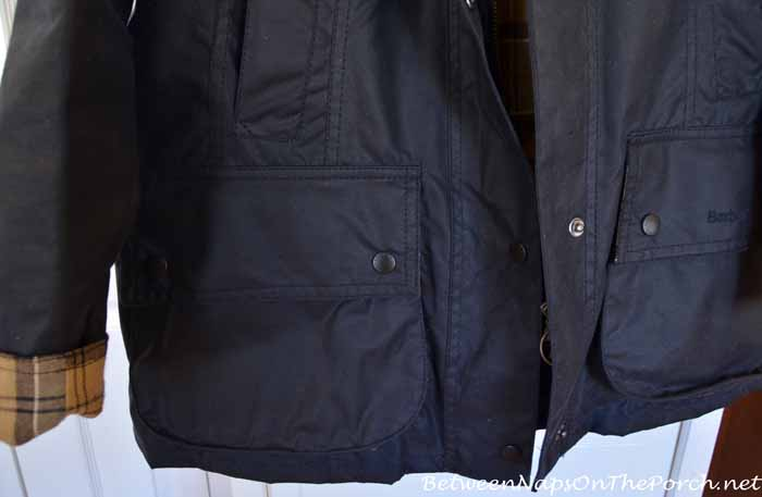 Barbour Beadnell Wax Jacket With Bellow Pockets with Rounded Corners