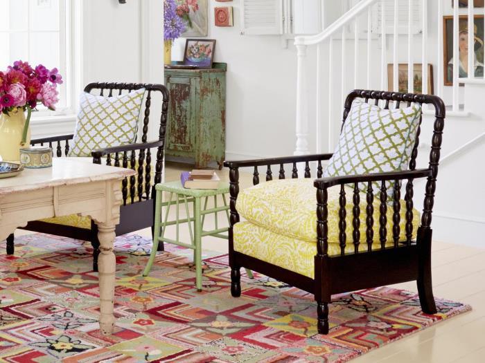 Bobbin Chairs Made Fresh with Beautiful Fabric