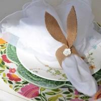 DIY Burlap Bunny-Ear Napkin Rings For Your Spring Table