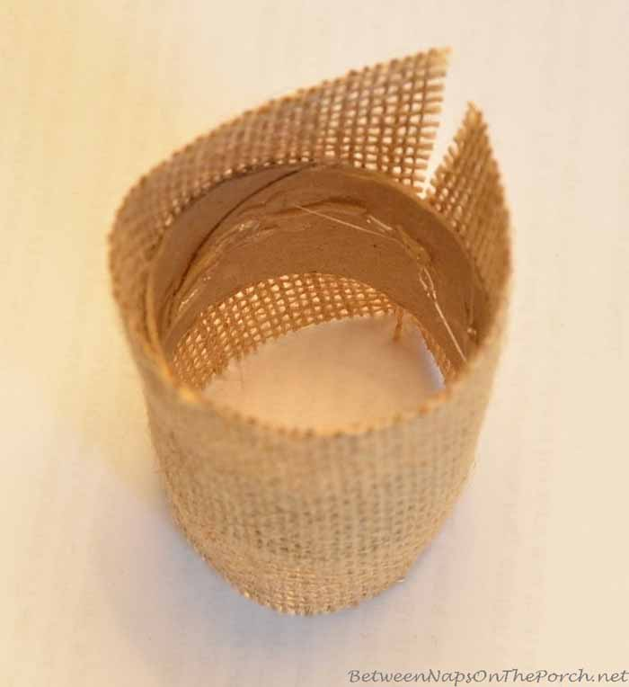 Burlap Bunny Ear Napkin Rings, Pottery Barn Inspired 03