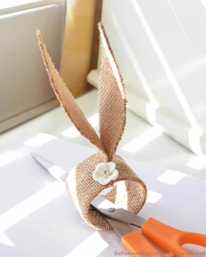 Burlap Bunny Ear Napkin Rings, Pottery Barn Inspired