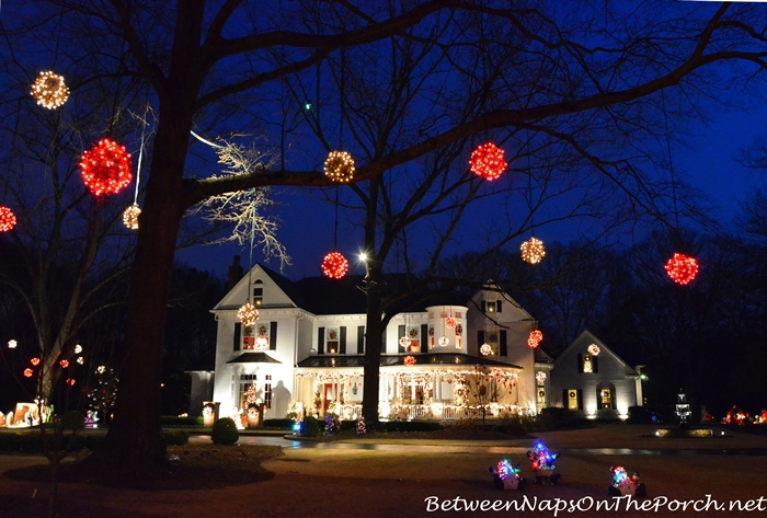 Christmas Decorations During Blue Hour