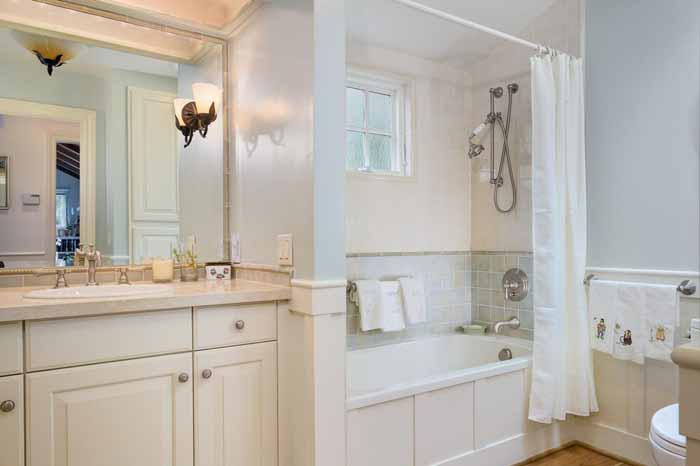 Cottage Bath For a Carmel Cottage Home