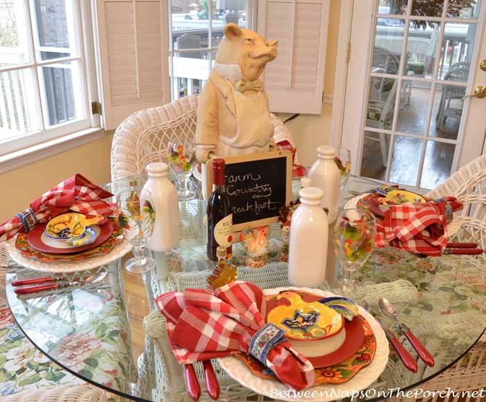 Farm Country Breakfast Table Setting 01