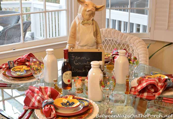 Farm Country Breakfast Table Setting 02