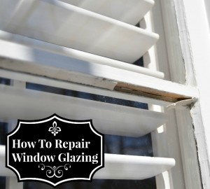 How to Repair Chipped or Missing Window Glazing