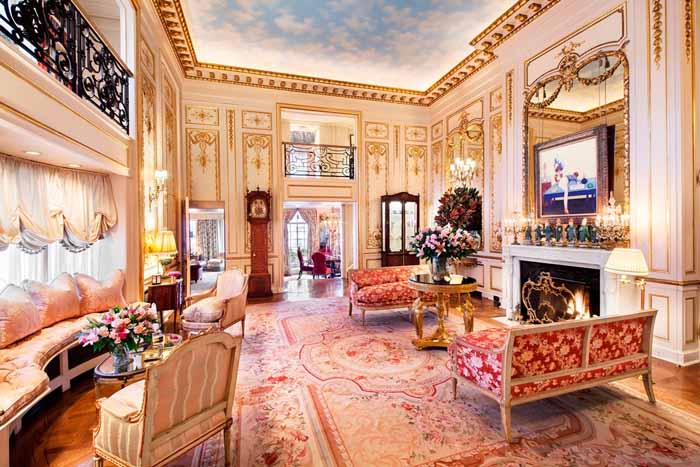 Joan River's New York Apartment Ballroom