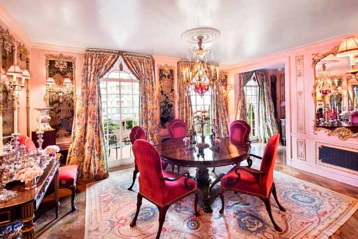 Joan River's New York Apartment Dining Room