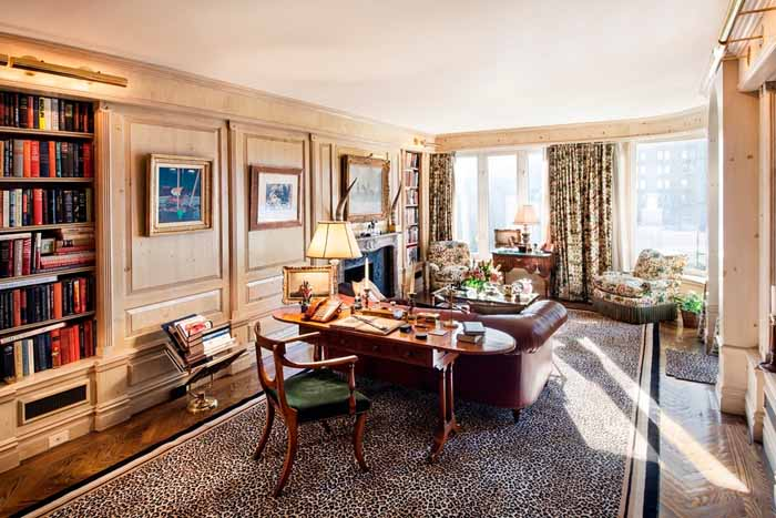 Joan River's New York Apartment Library Study