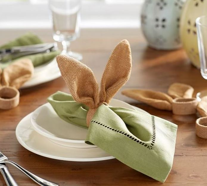 Pottery Barn Burlap Bunny Napkin Rings DIY Tutorial