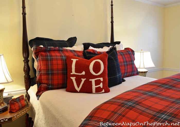 Pottery Barn Red LOVE pillow