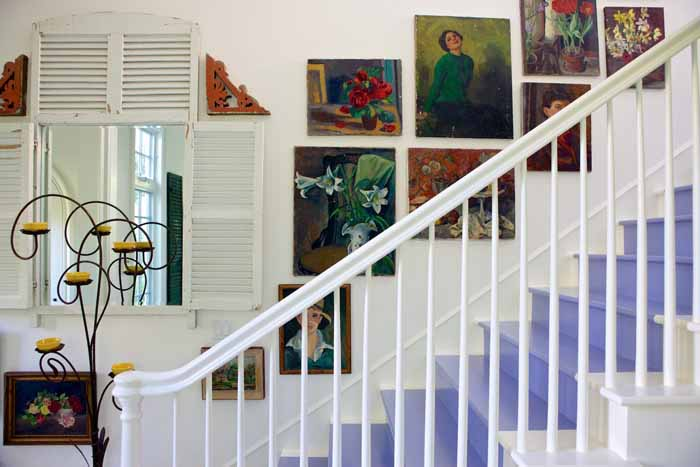 Purple Staircase in Cottage Home