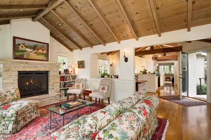 Raised Beam Ceiling for Carmel Cottage