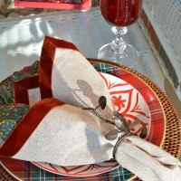 Valentine's Day Table with Paisley, Plaid and Velvet