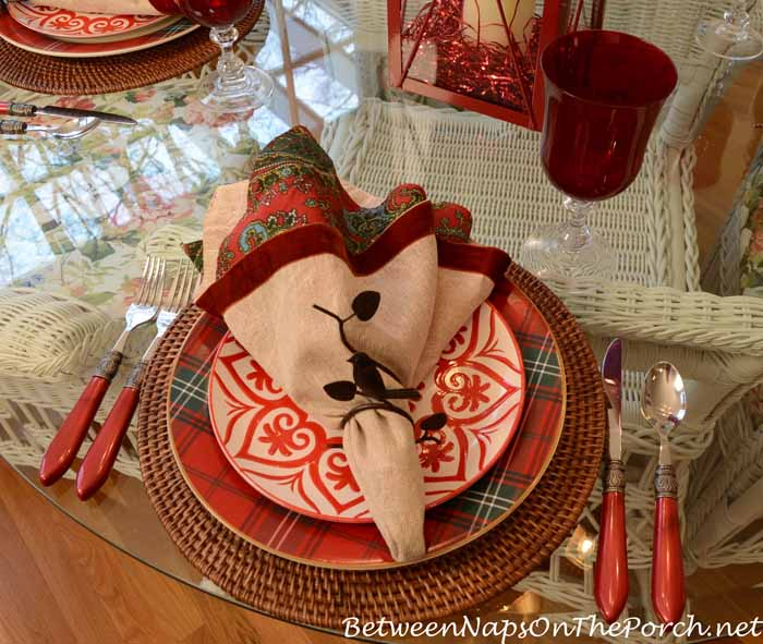 Valentine's Day Tablescape In Paisley and Plaid