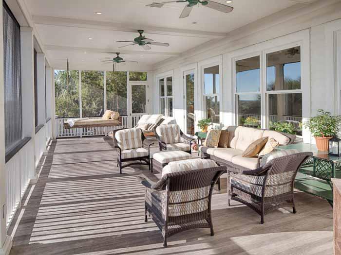 Add a big screened porch to a beach house for Beach house deck ideas