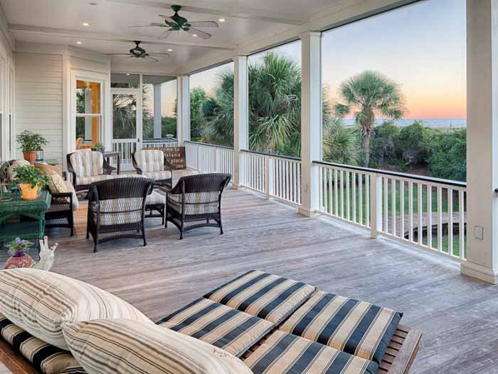 2nd Story Screened Porch on Beach Home, Tybee Island, Georgia