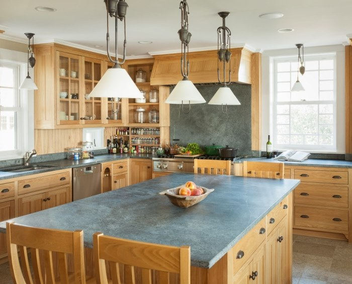 Beach Cottage Kitchen with Natural Cabinetry