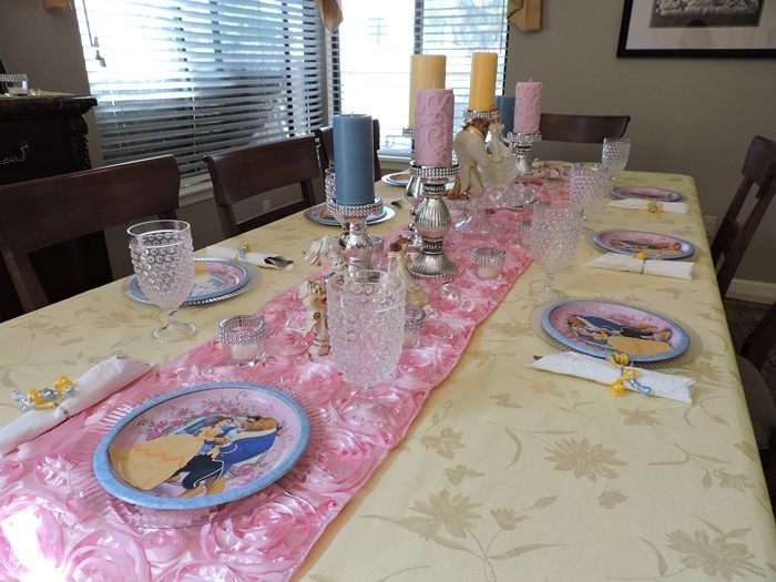 Beauty and the Beast Princess Birthday Party 1