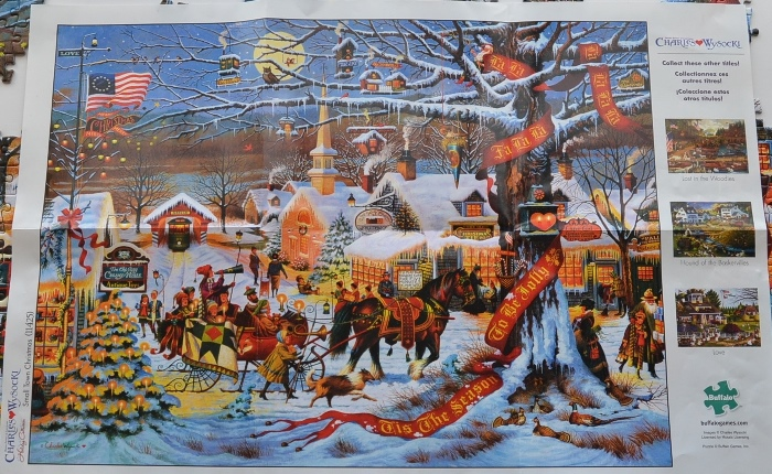 Charles Wysocki Small Town Christmas Puzzle
