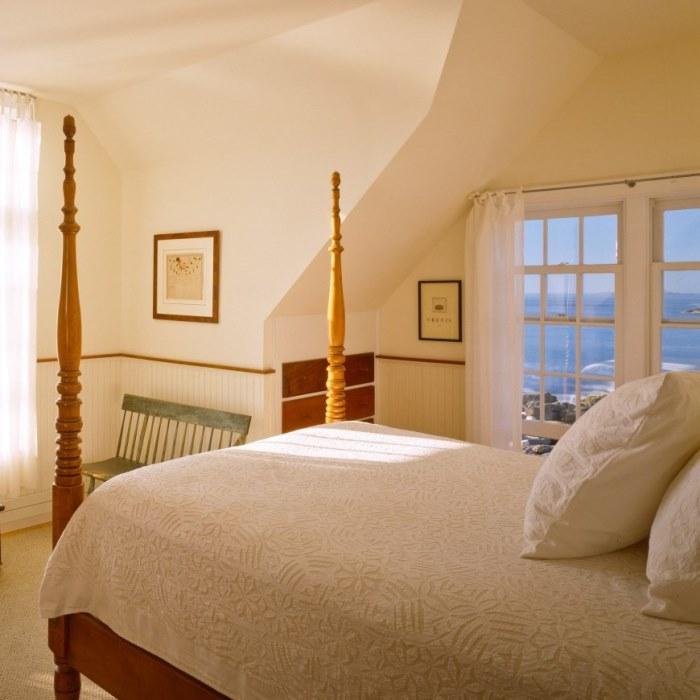 Cottage Bedroom with Ocean View