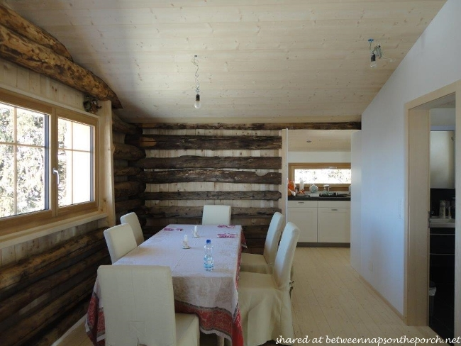 Dining Area in Restored Ski Cabin in Switzerland 2