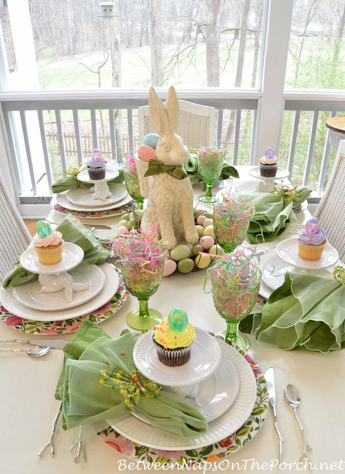 Easter Table Setting Spring Tablescape 022