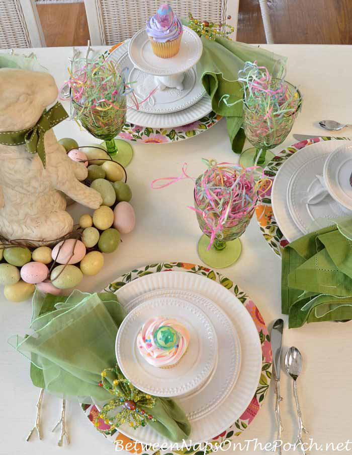 Easter Table Setting for Spring