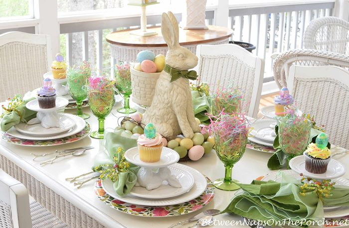 A Spring Table Setting with the Easter Bunny : Easter Tablescape or Spring Table Setting from betweennapsontheporch.net size 700 x 458 jpeg 95kB