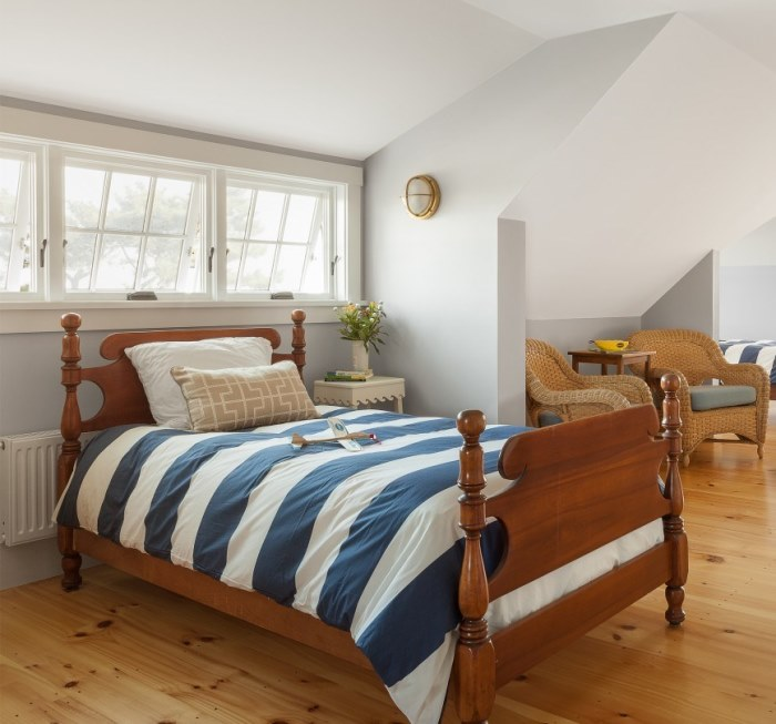 Nautical Bedding for Beach Cottage