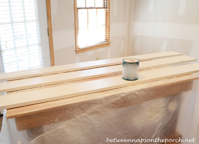 Painting Wood to Build a Cubby Organizer