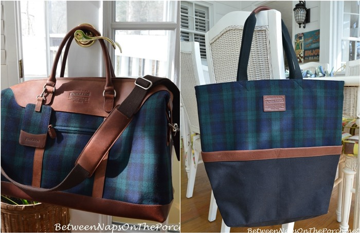Pendleton Blackwatch Plaid Weekender Bag and Tote