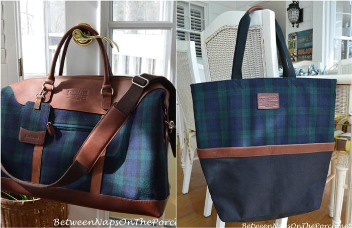 Pendleton Blackwatch Plaid Weekender Bag and Tote