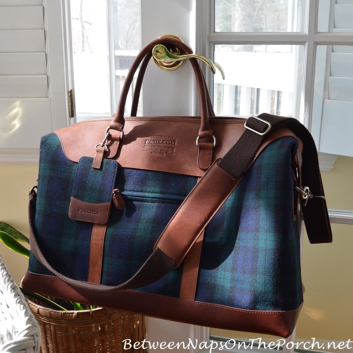 Pendleton Blackwatch Plaid Weekender Bag