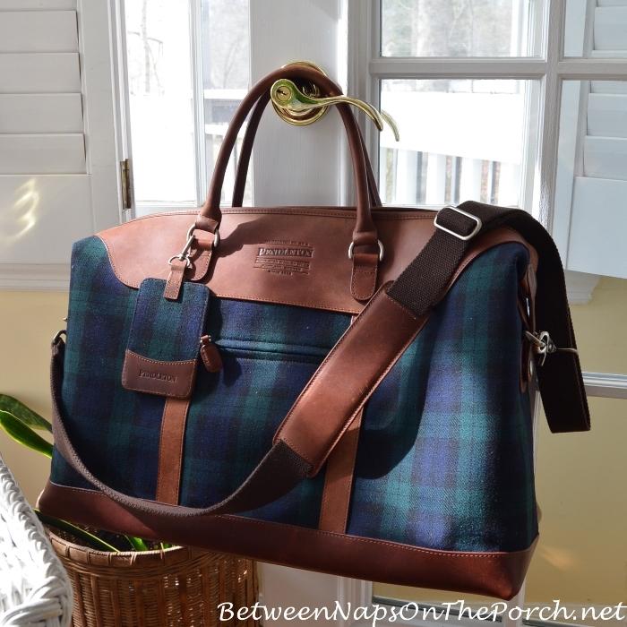 Pendleton Blackwatch Plaid Weekender Bag