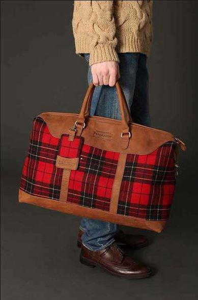 Pendleton Red Plaid Weekender Bag