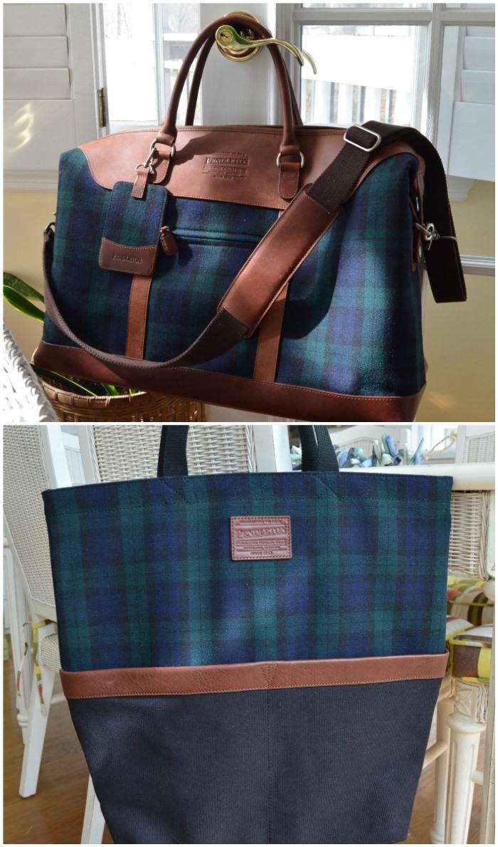 Pendleton Weekender Bag and Tote in Blackwatch Tartan