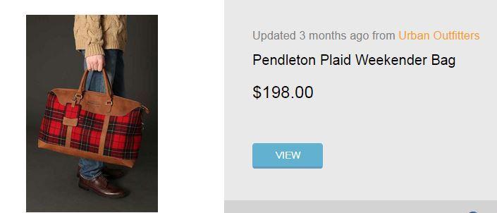 Pendleton Weekender Bag in Red Plaid