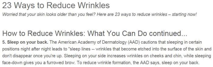 Preventing Wrinkles