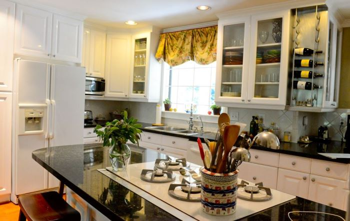 Renovated Kitchen with Verde Cavendish Marble from Vermont