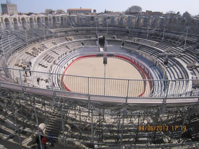 Roman Amphitheatre in Arles, South of France